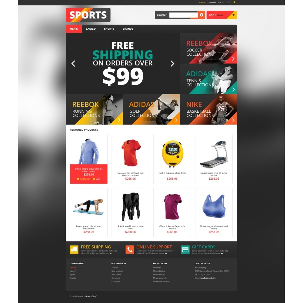 theme - Sports, Activities & Travel - Responsive Sports Store - 4