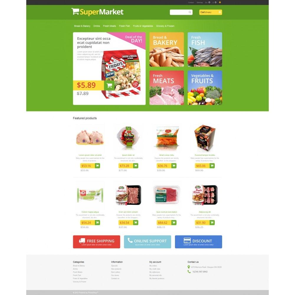 theme - Żywność & Restauracje - Responsive Supermarket - 4