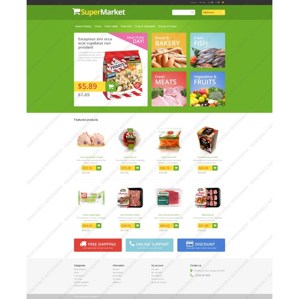 theme - Lebensmittel & Restaurants - Responsive Supermarket - 5