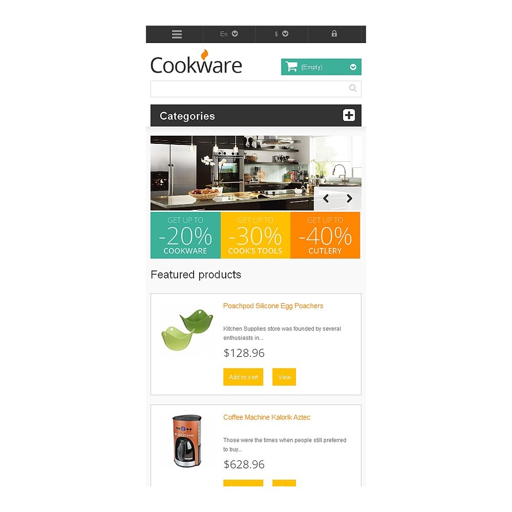 theme - Art & Culture - Responsive Cookware Store - 8
