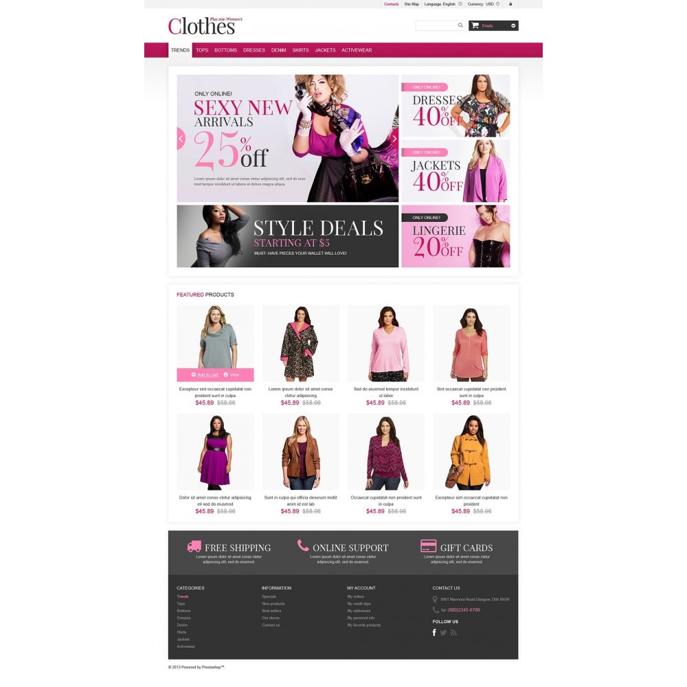 theme - Fashion & Shoes - Plus Size Clothes Store - 2