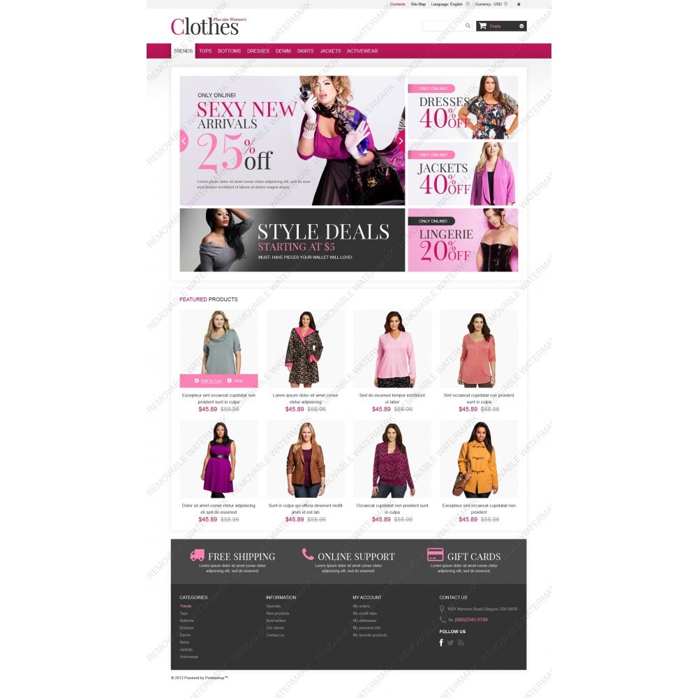 theme - Fashion & Shoes - Plus Size Clothes Store - 3