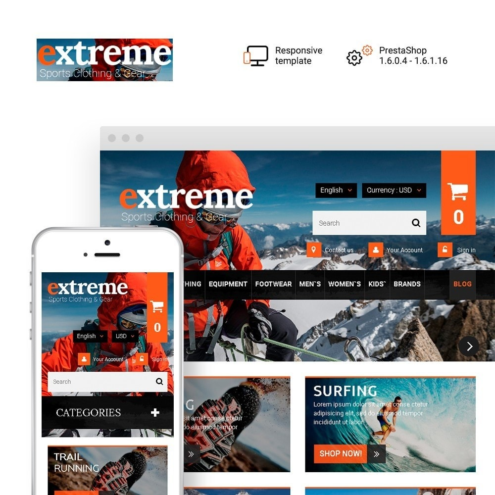 theme - Спорт и Путешествия - Extreme - Extreme Clothes & Gear - 1