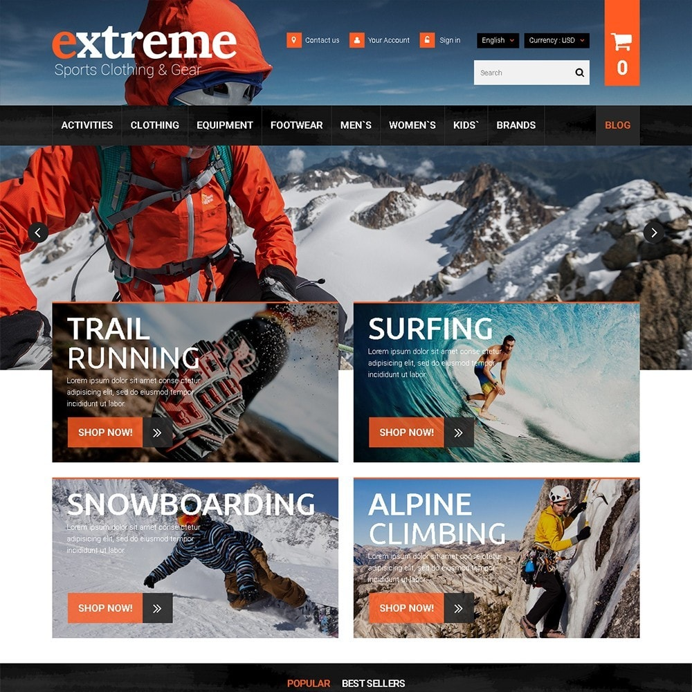 theme - Sport, Loisirs & Voyage - Extreme - Extreme Clothes & Gear - 2