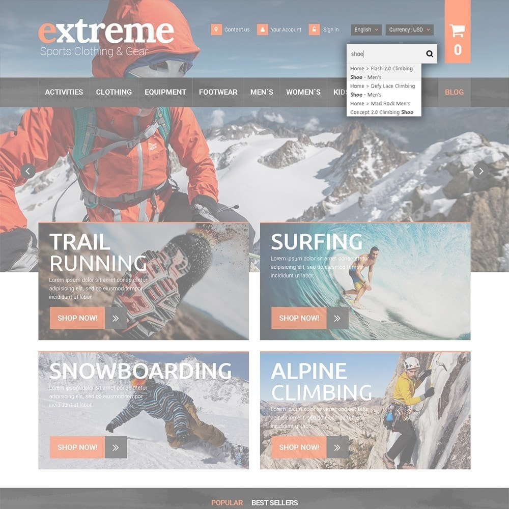 theme - Sport, Loisirs & Voyage - Extreme - Extreme Clothes & Gear - 7
