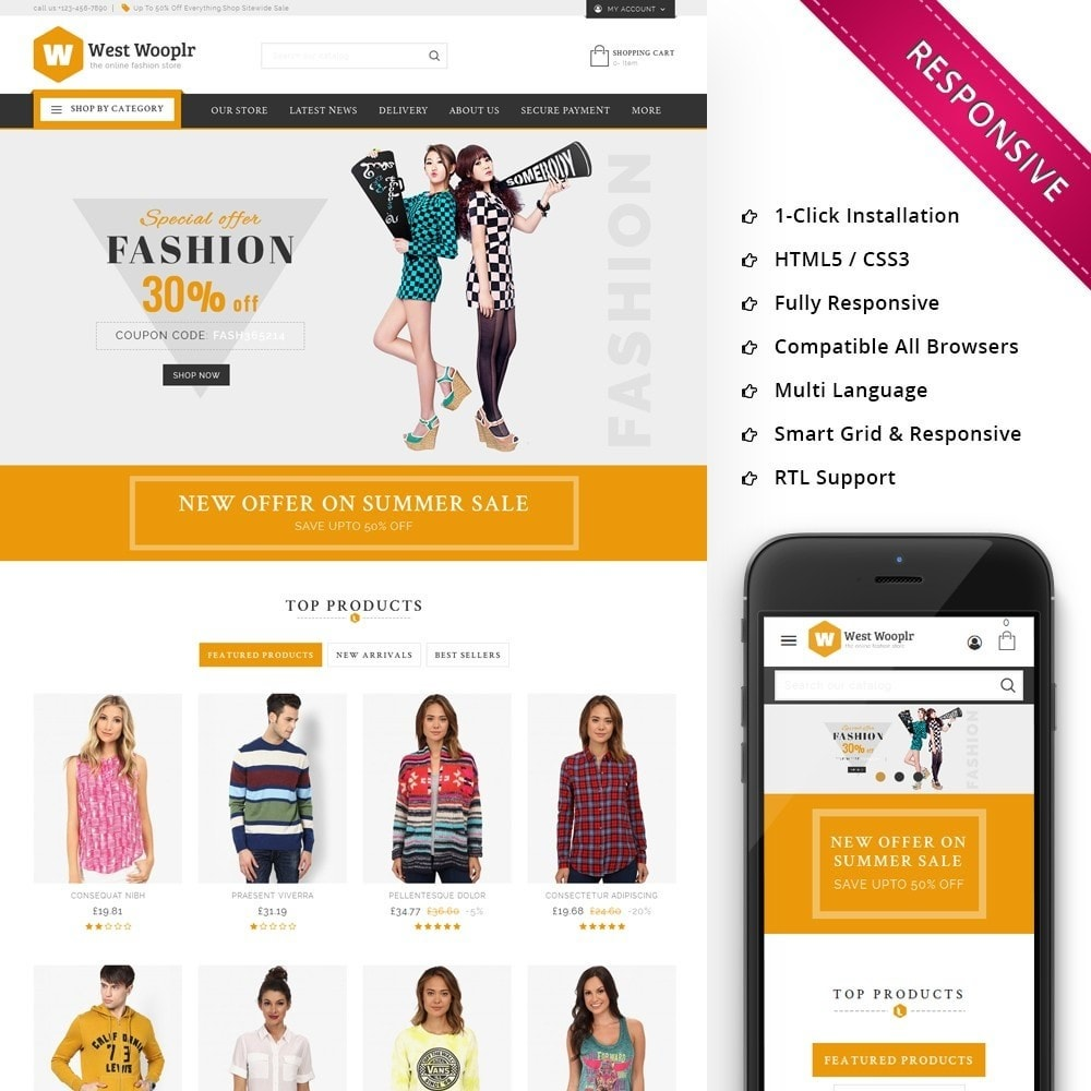 theme - Fashion & Shoes - West Wooplr - Fashion Market - 1