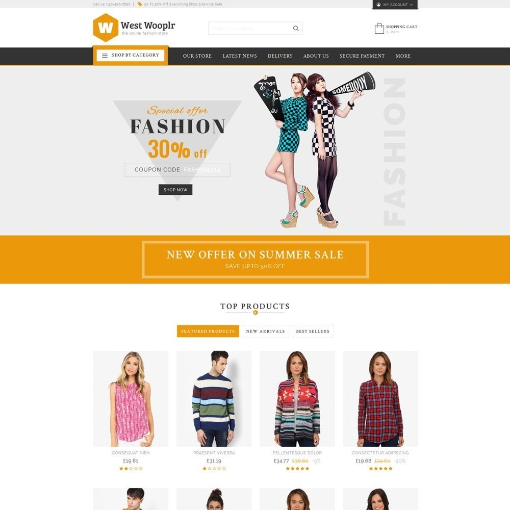 theme - Fashion & Shoes - West Wooplr - Fashion Market - 2