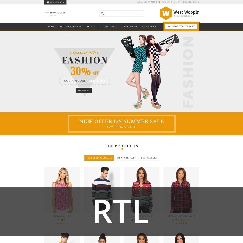 theme - Fashion & Shoes - West Wooplr - Fashion Market - 3