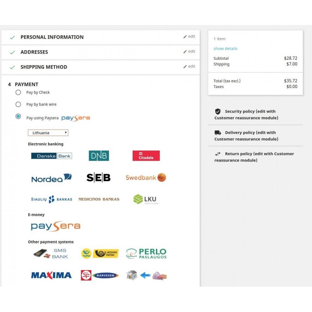 module - Pagamento con Carta di Credito o Wallet - Paysera gateway - 3