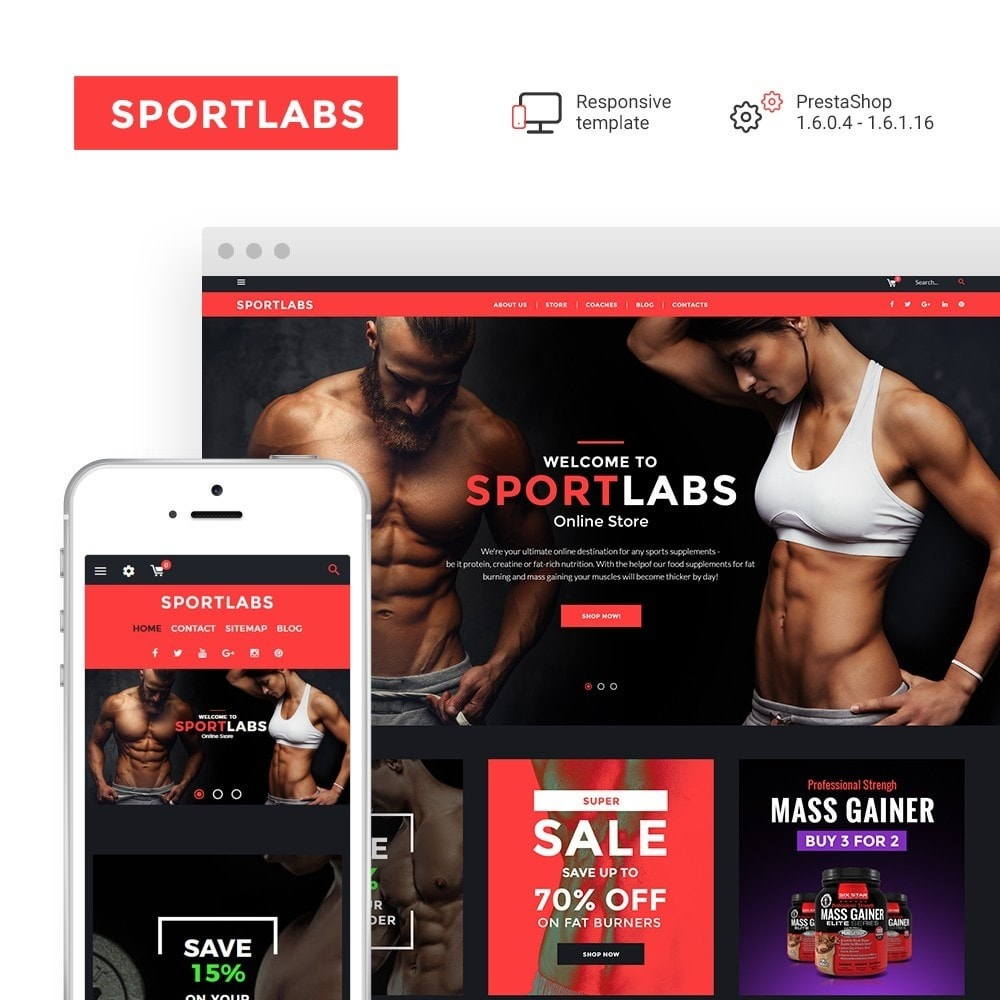 theme - Sports, Activities & Travel - SportLabs - Sports Nutrition - 1