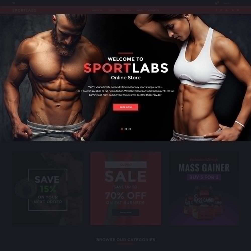 theme - Sports, Activities & Travel - SportLabs - Sports Nutrition - 3