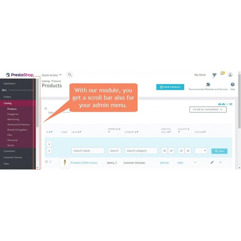 module - Narzędzia administracyjne - Pasek przewijania menu administratora - 2