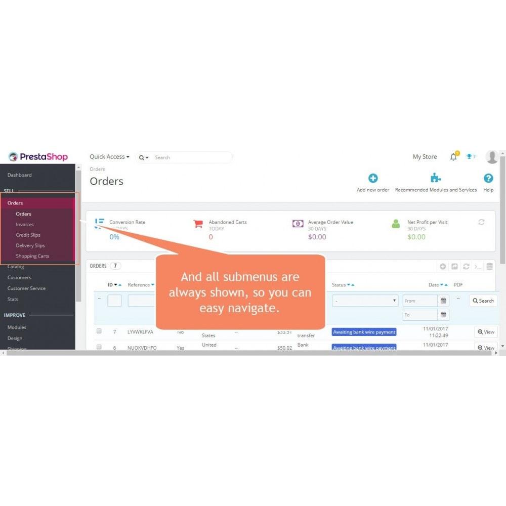 module - Narzędzia administracyjne - Pasek przewijania menu administratora - 3