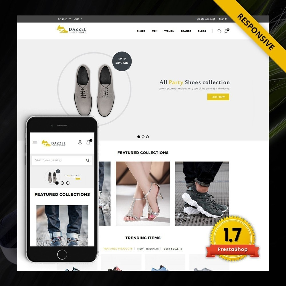 theme - Moda y Calzado - Dazzel - Shoes store - 1