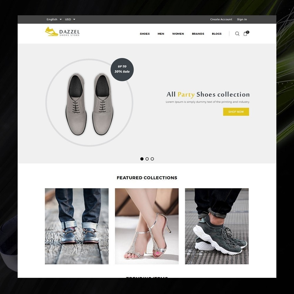 theme - Moda y Calzado - Dazzel - Shoes store - 2