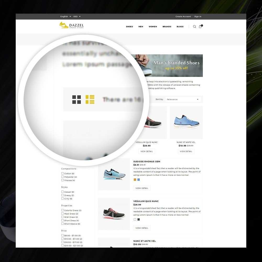 theme - Moda y Calzado - Dazzel - Shoes store - 3