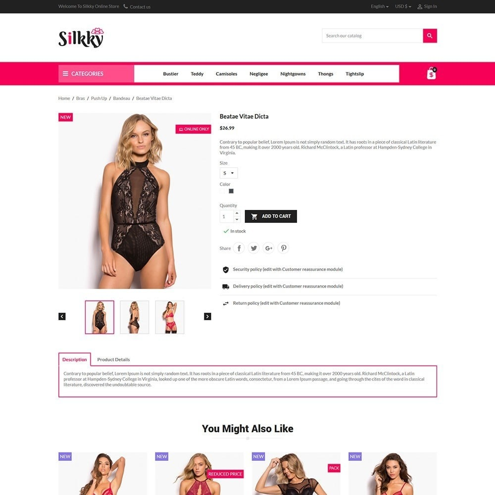 theme - Lingerie & Adulti - Silkky - Lingerie Online Store - 5