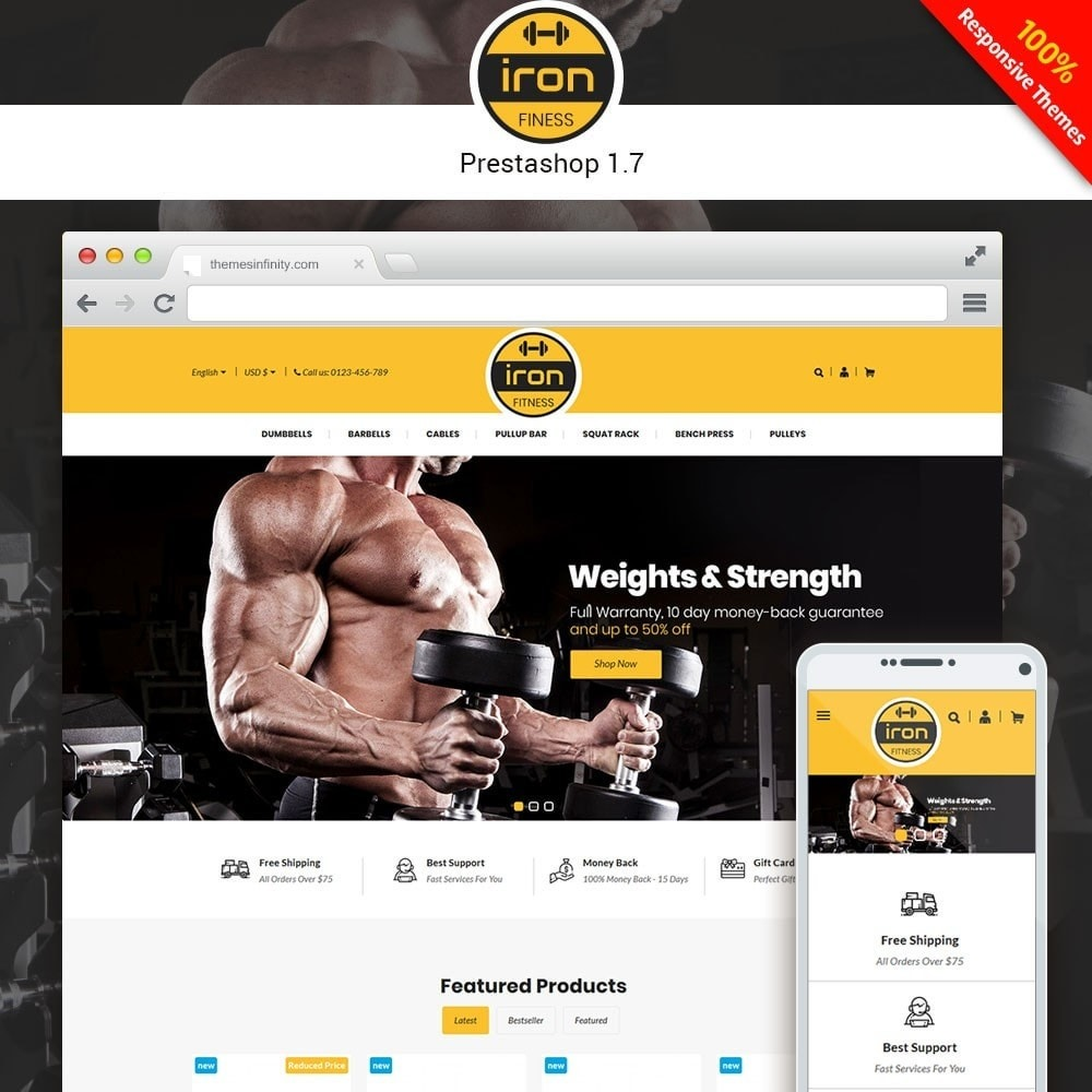 theme - Salute & Bellezza - Iron - Fitness Online Store - 1