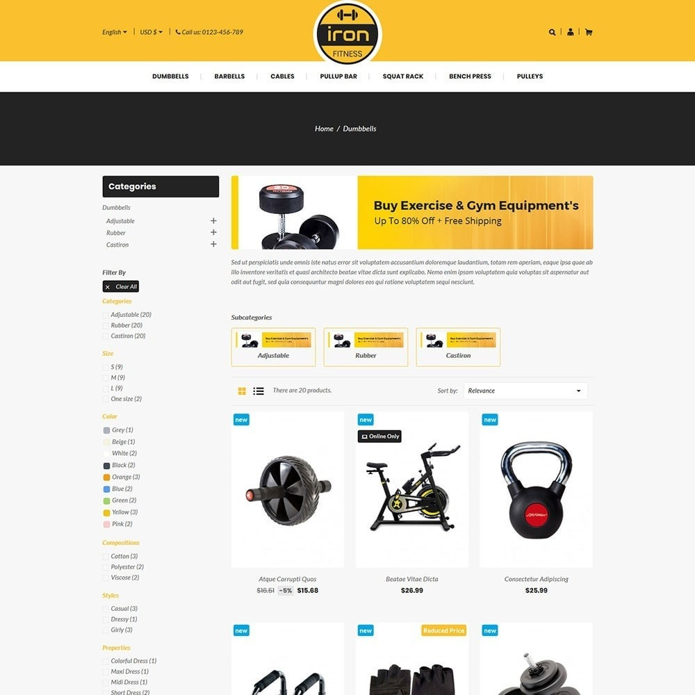 theme - Salute & Bellezza - Iron - Fitness Online Store - 3