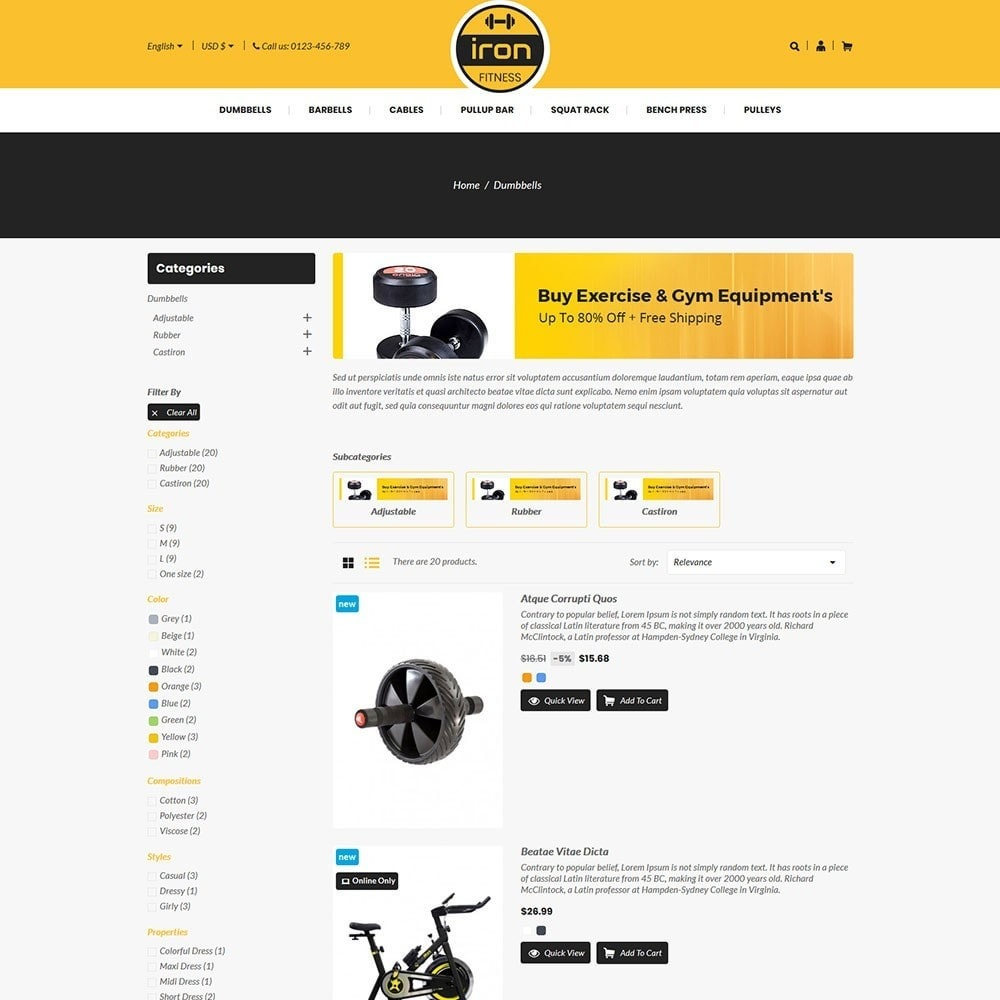 theme - Salute & Bellezza - Iron - Fitness Online Store - 4