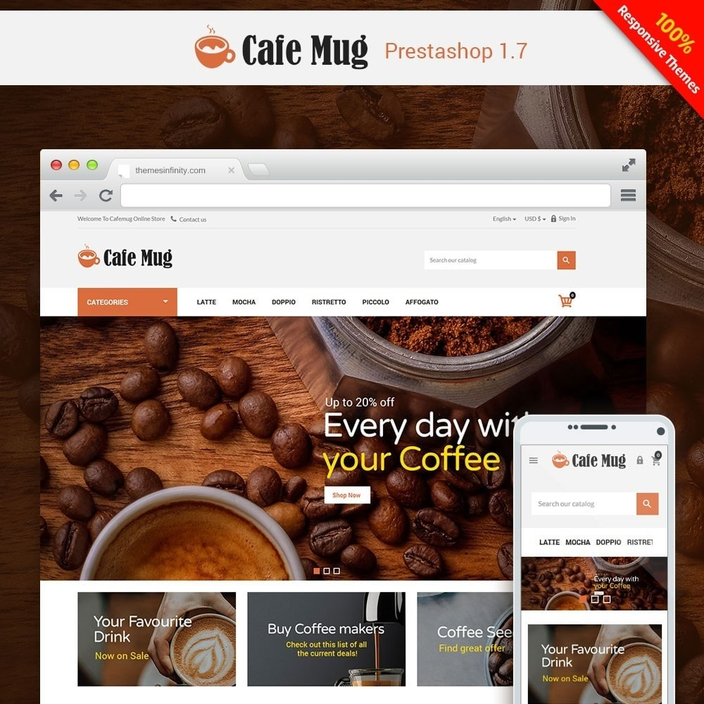 theme - Lebensmittel & Restaurants - Cafemug - Coffee Online Store - 1