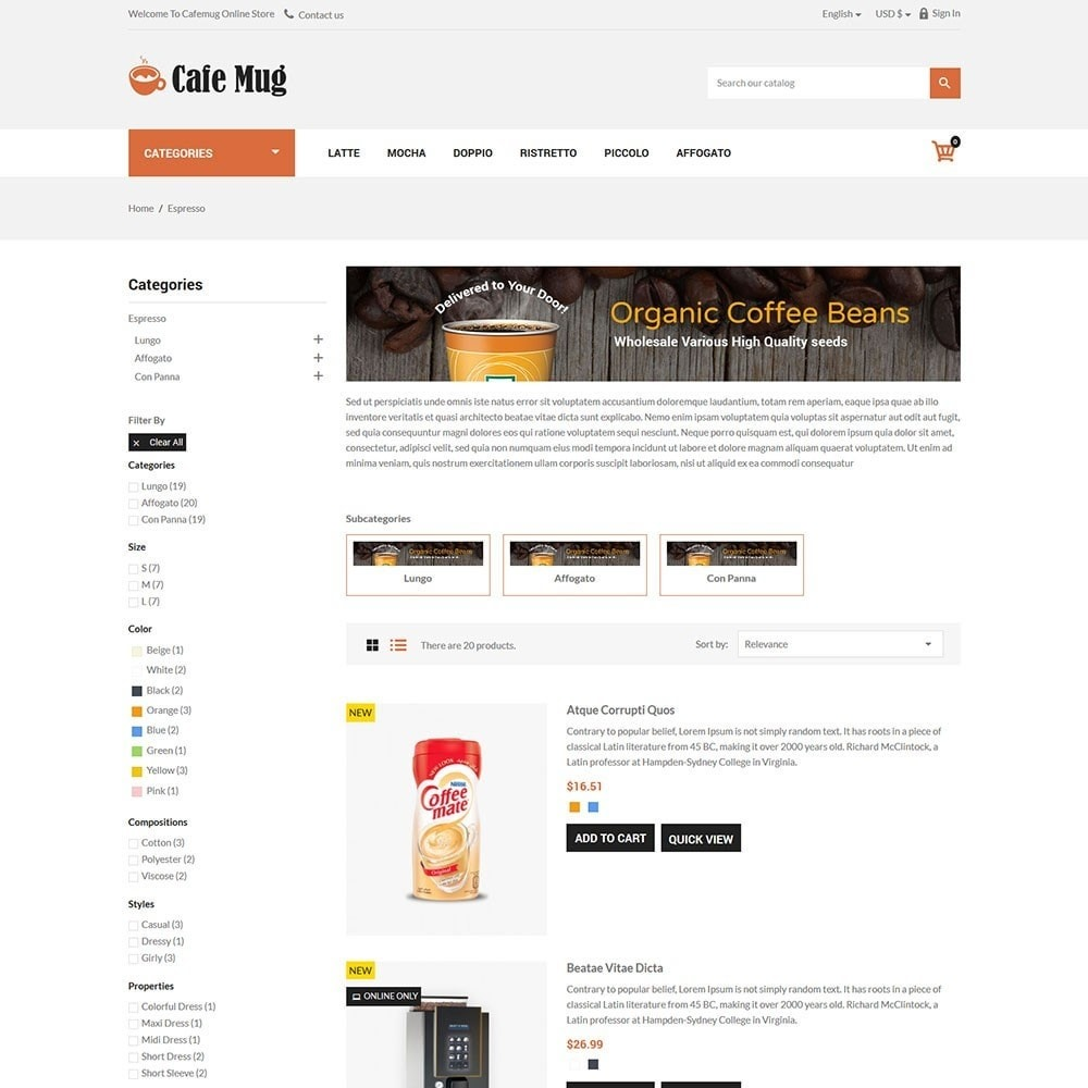 theme - Lebensmittel & Restaurants - Cafemug - Coffee Online Store - 4