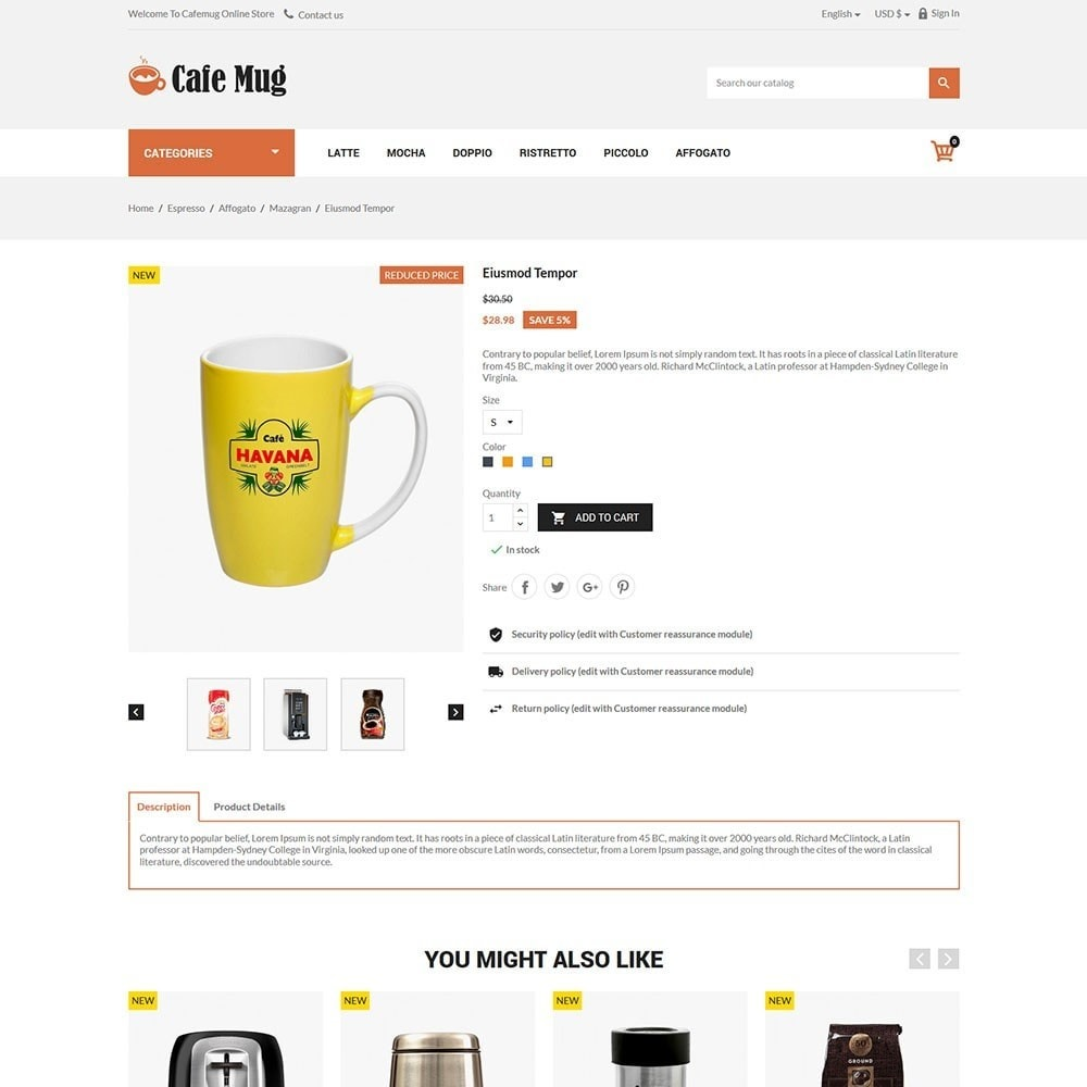 theme - Lebensmittel & Restaurants - Cafemug - Coffee Online Store - 5