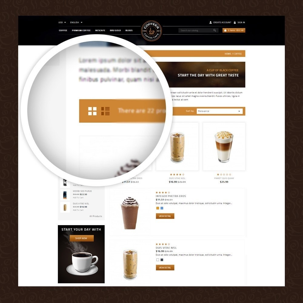 theme - Alimentation & Restauration - Coffeea - Coffee shop - 3