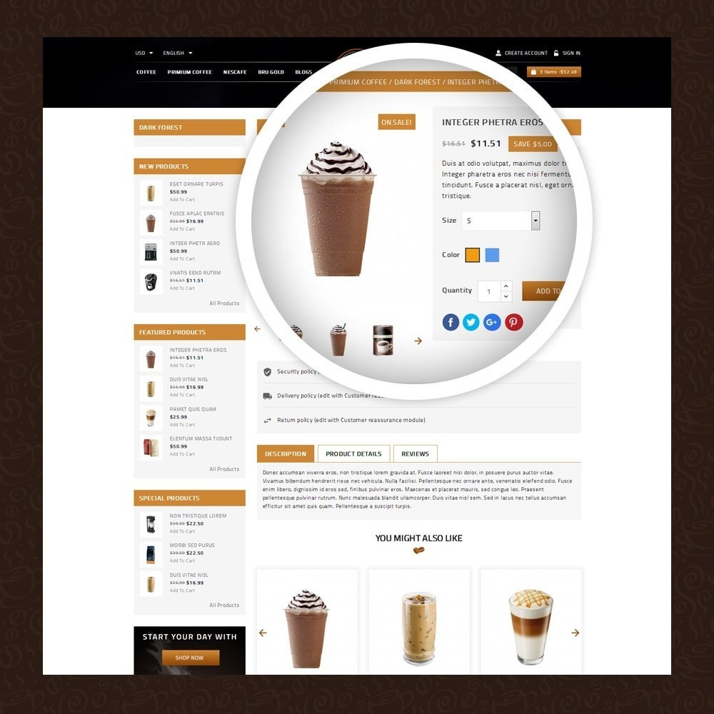 theme - Eten & Restaurant - Coffeea - Coffee shop - 4