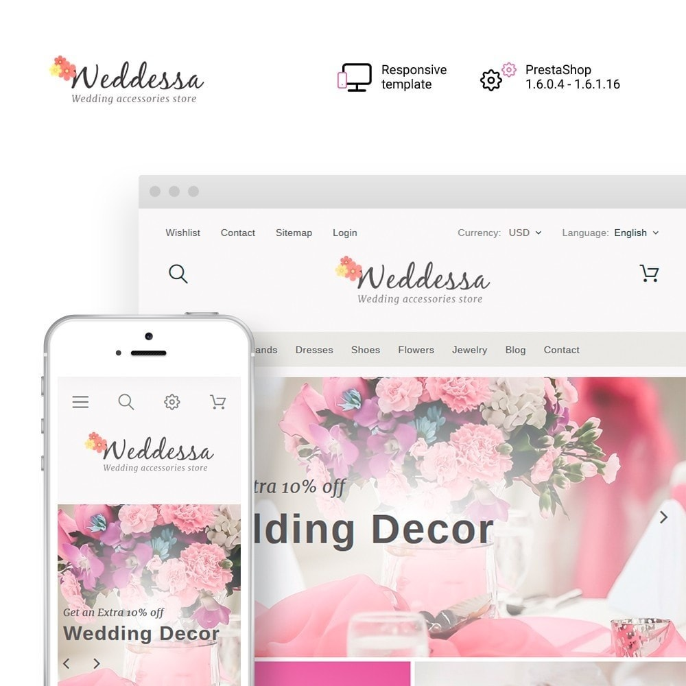 theme - Fashion & Shoes - Weddessa - Wedding Shop - 1