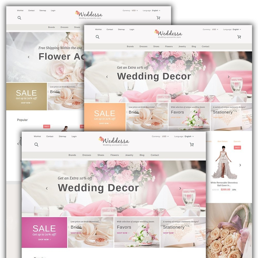 theme - Fashion & Shoes - Weddessa - Wedding Shop - 2