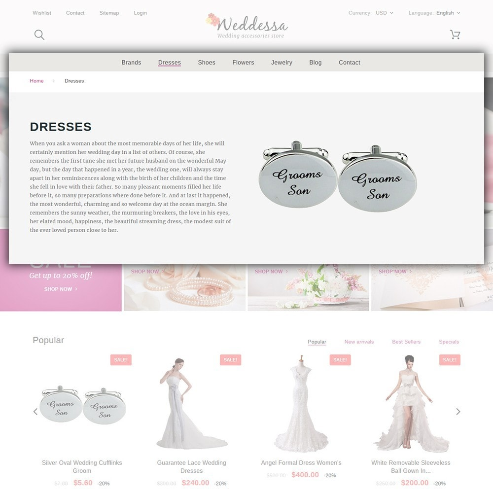 theme - Fashion & Shoes - Weddessa - Wedding Shop - 5