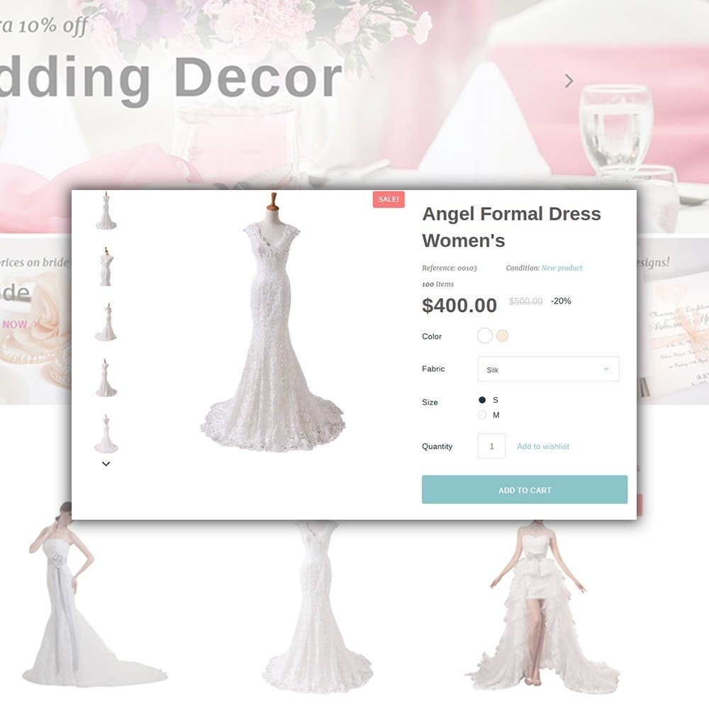 theme - Мода и обувь - Weddessa - шаблон на тему свадебный магазин - 5