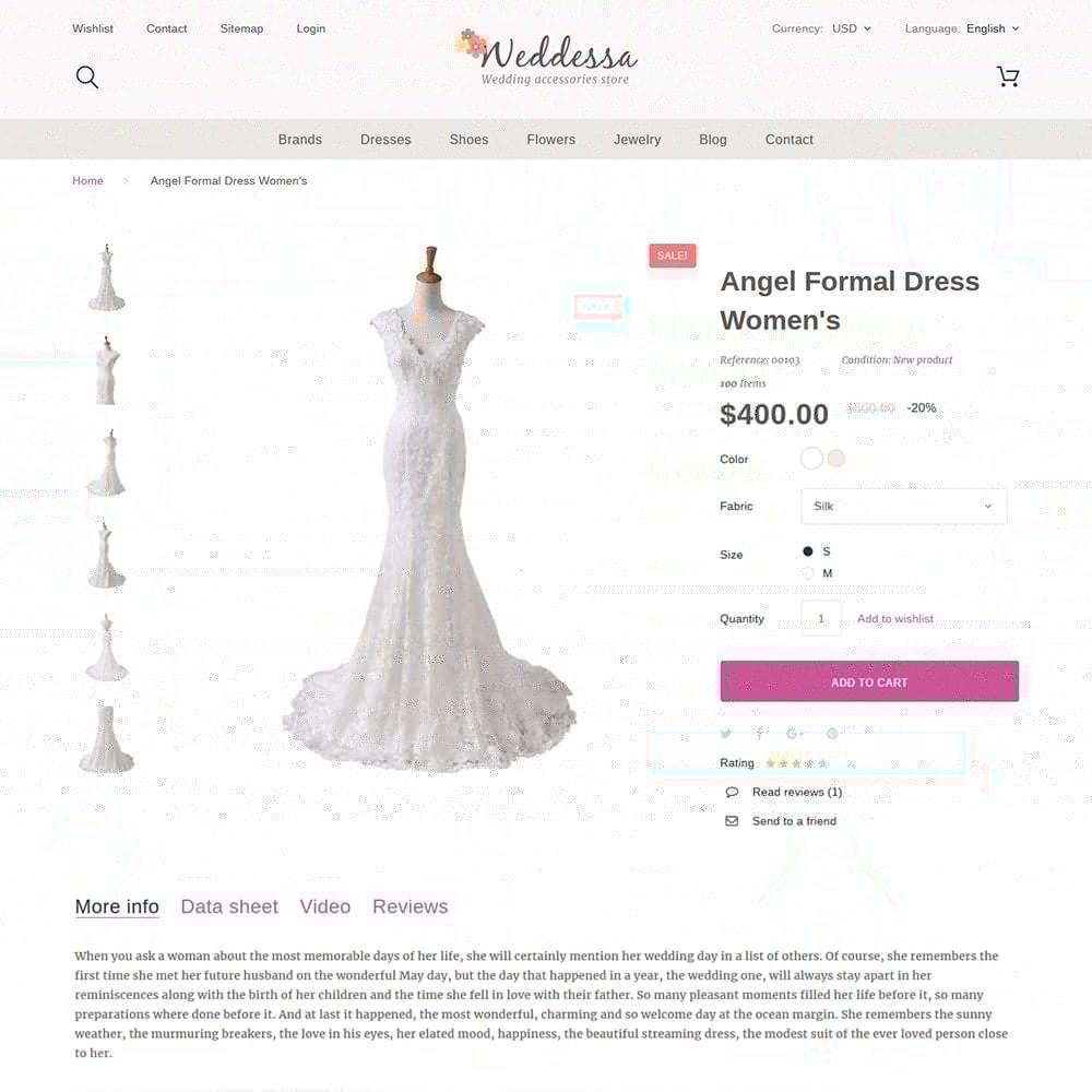 theme - Moda & Calzature - Weddessa - per Un Sito di Lista di Nozze - 4