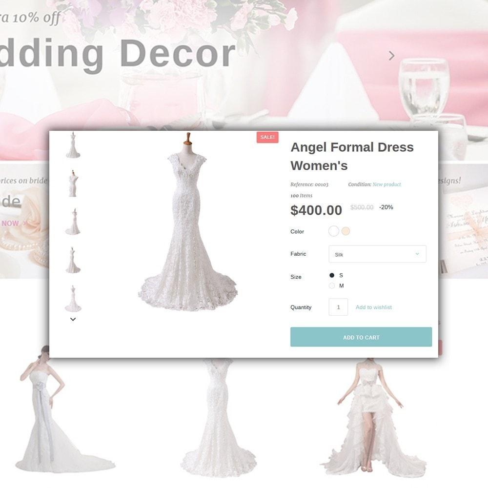 theme - Moda & Calzature - Weddessa - per Un Sito di Lista di Nozze - 5