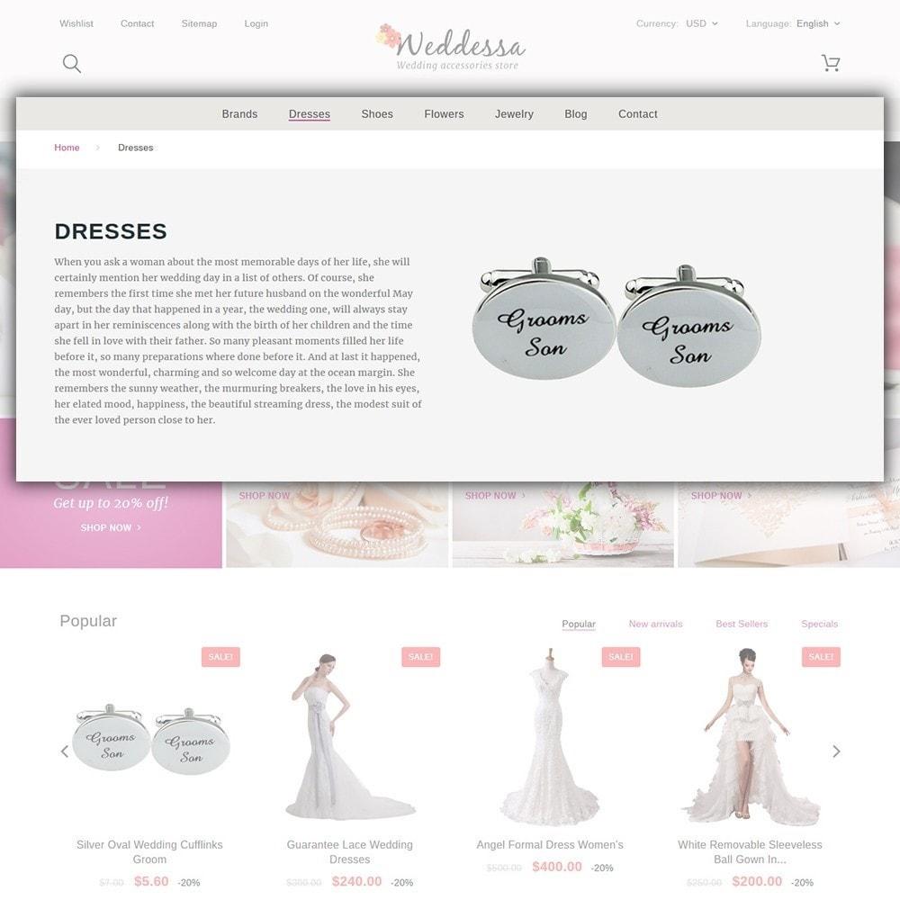 theme - Moda & Calzature - Weddessa - per Un Sito di Lista di Nozze - 6