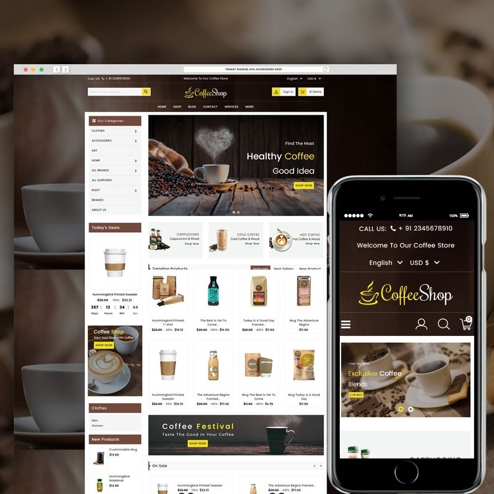 theme - Boissons & Tabac - Coffee and Drinks Store - 1
