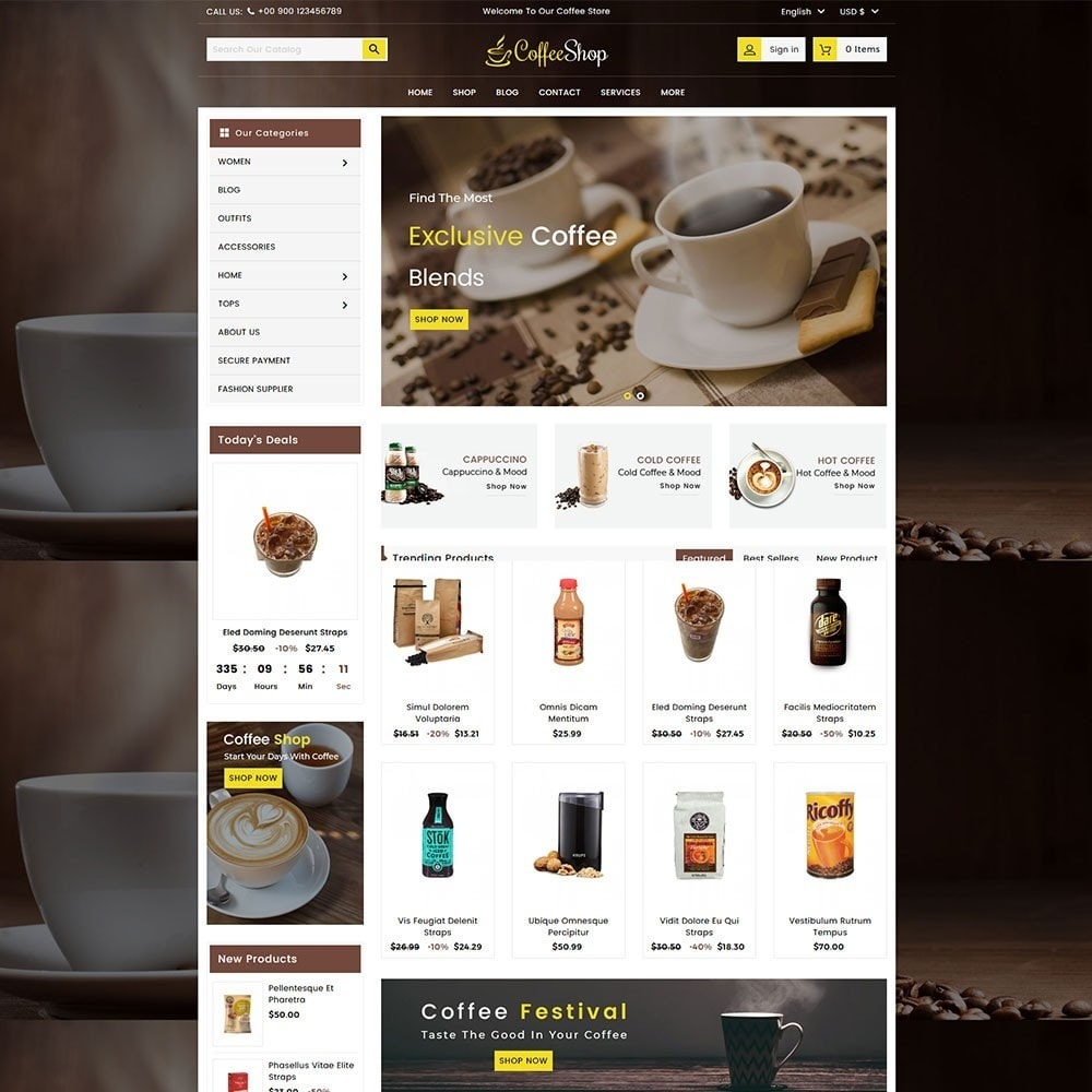 theme - Напитки и с сигареты - Coffee and Drinks Store - 2