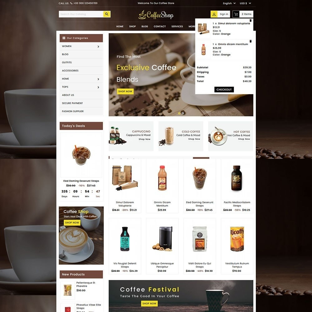 theme - Напитки и с сигареты - Coffee and Drinks Store - 3