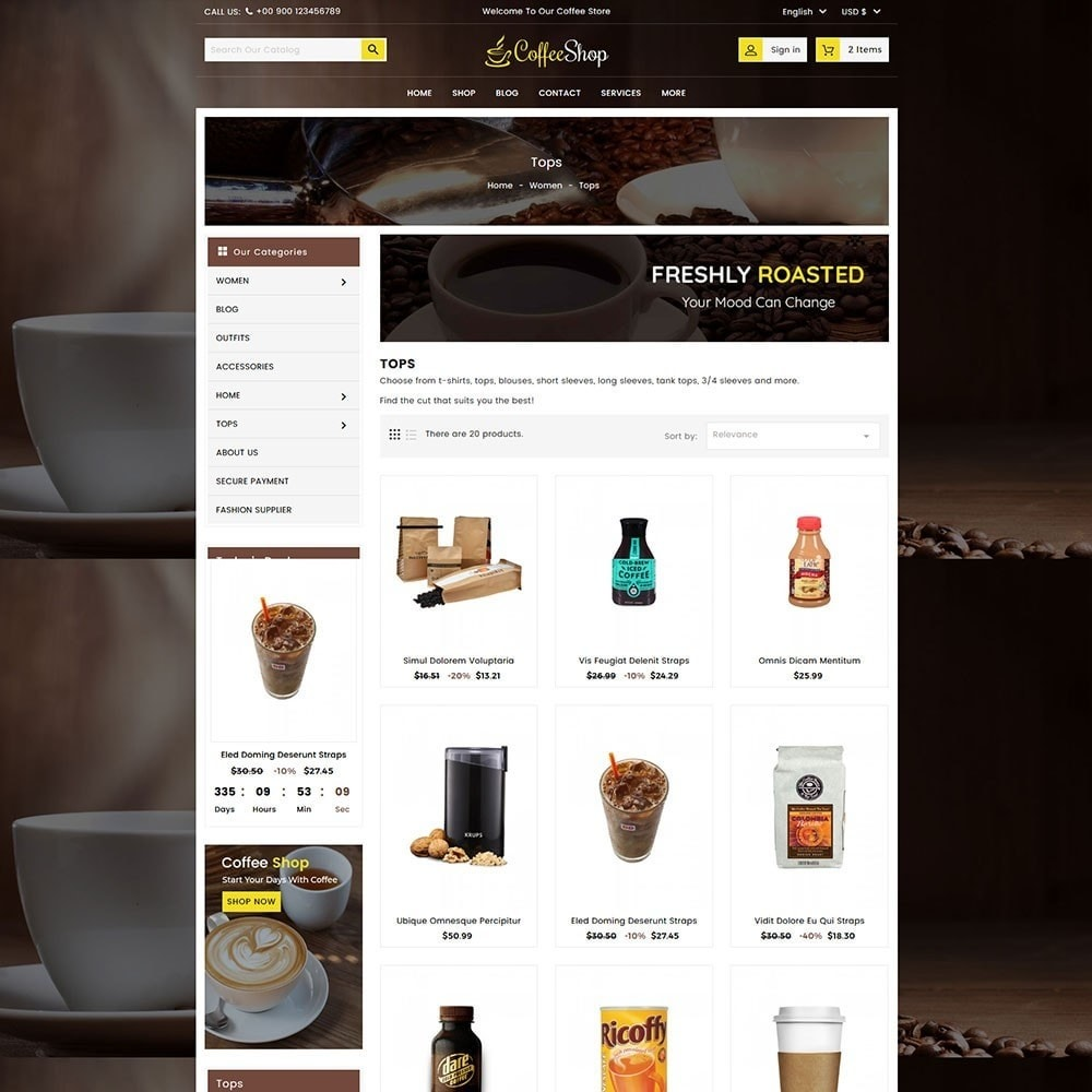 theme - Напитки и с сигареты - Coffee and Drinks Store - 4