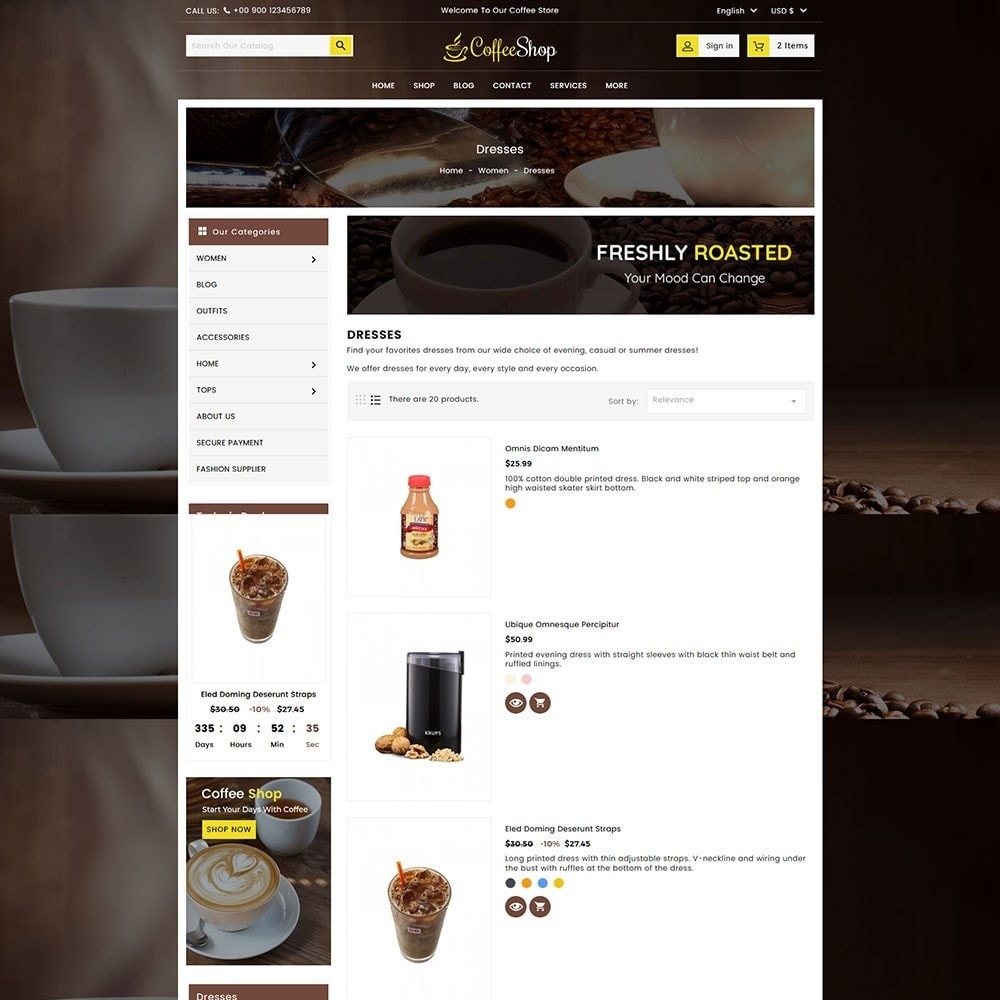 theme - Напитки и с сигареты - Coffee and Drinks Store - 5