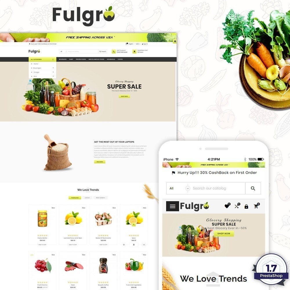 theme - Eten & Restaurant - Fulgro – Food and Grocery Super Store v3 - 1