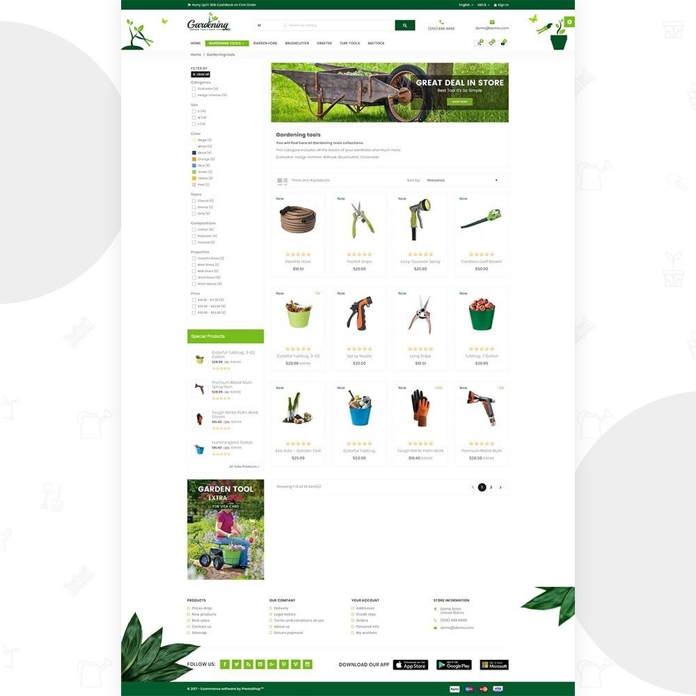 theme - Дом и сад - Garding  – Garden Tool Store - 3
