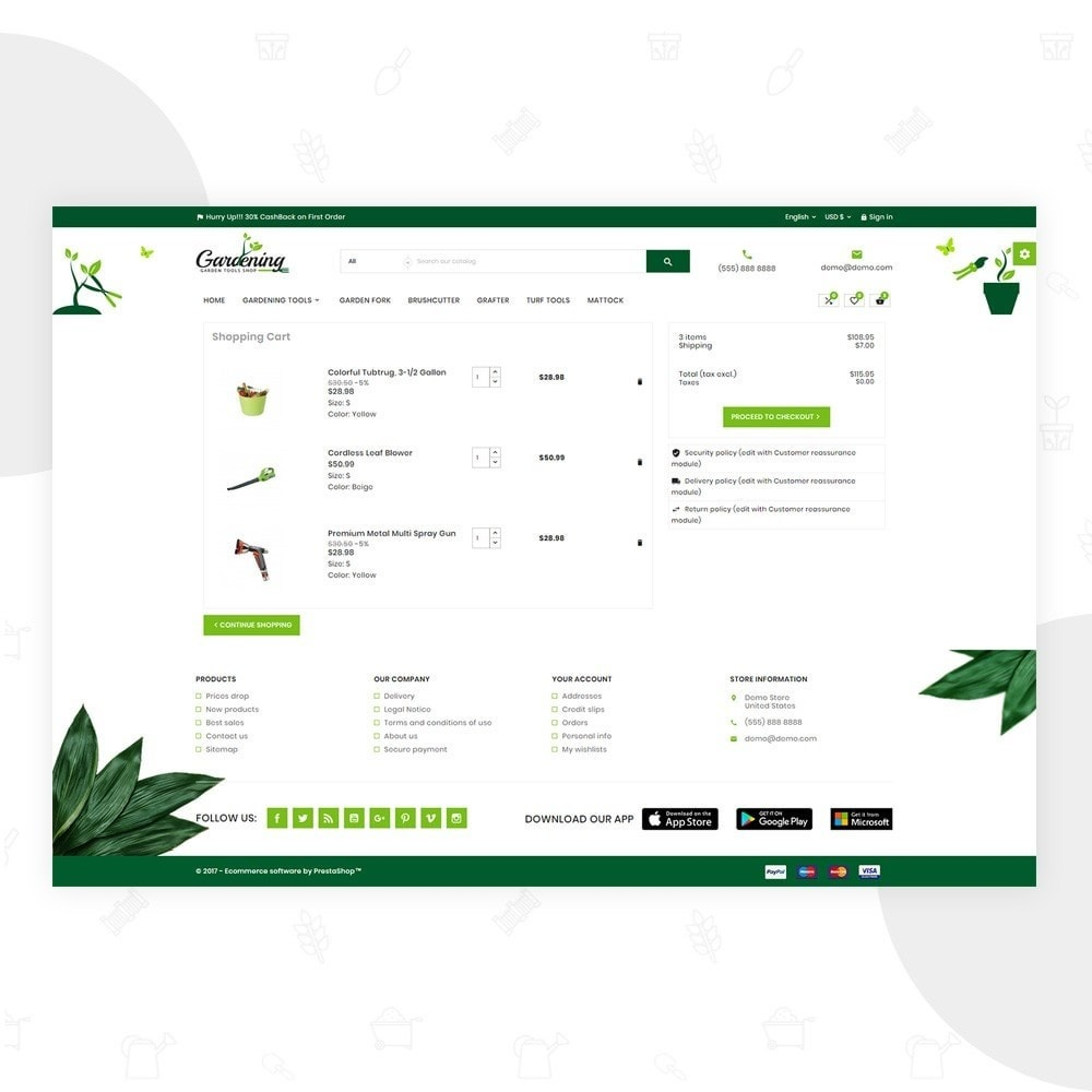 theme - Hogar y Jardín - Garding  – Garden Tool Store - 5