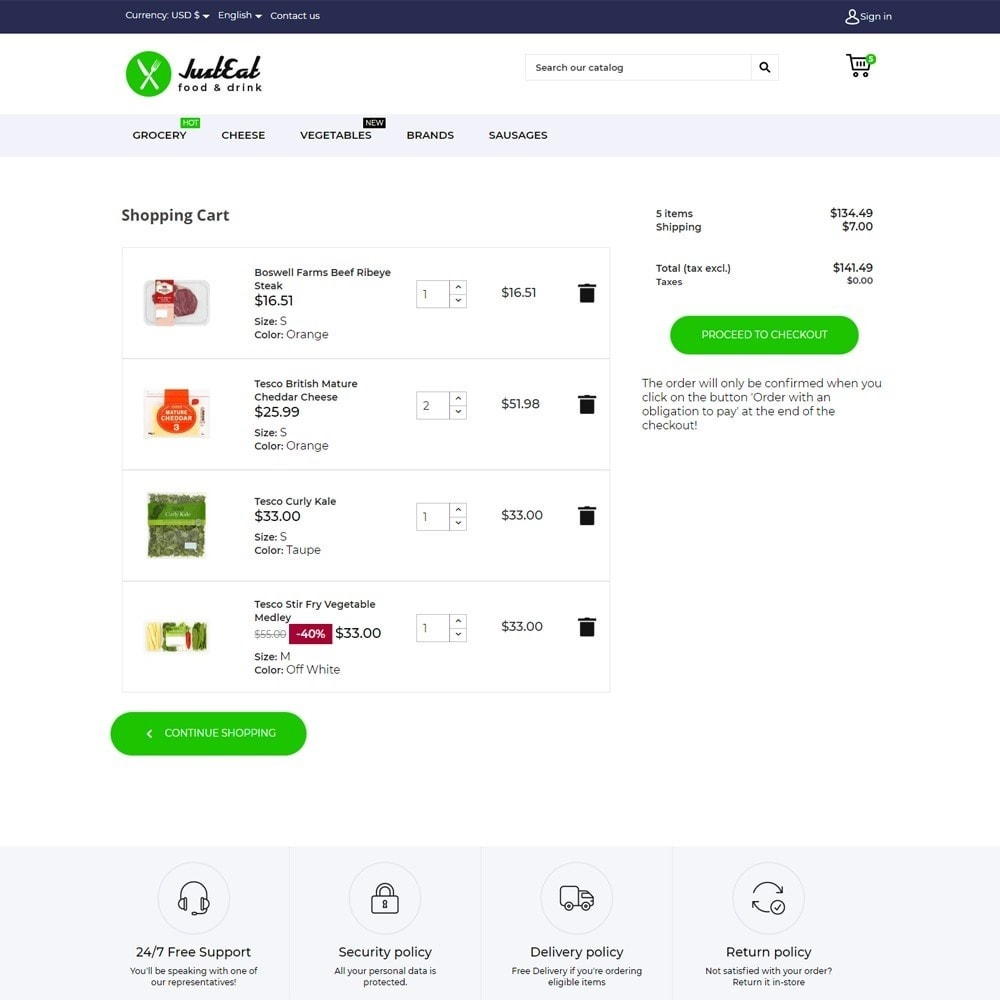 theme - Alimentation & Restauration - JustEat - 6