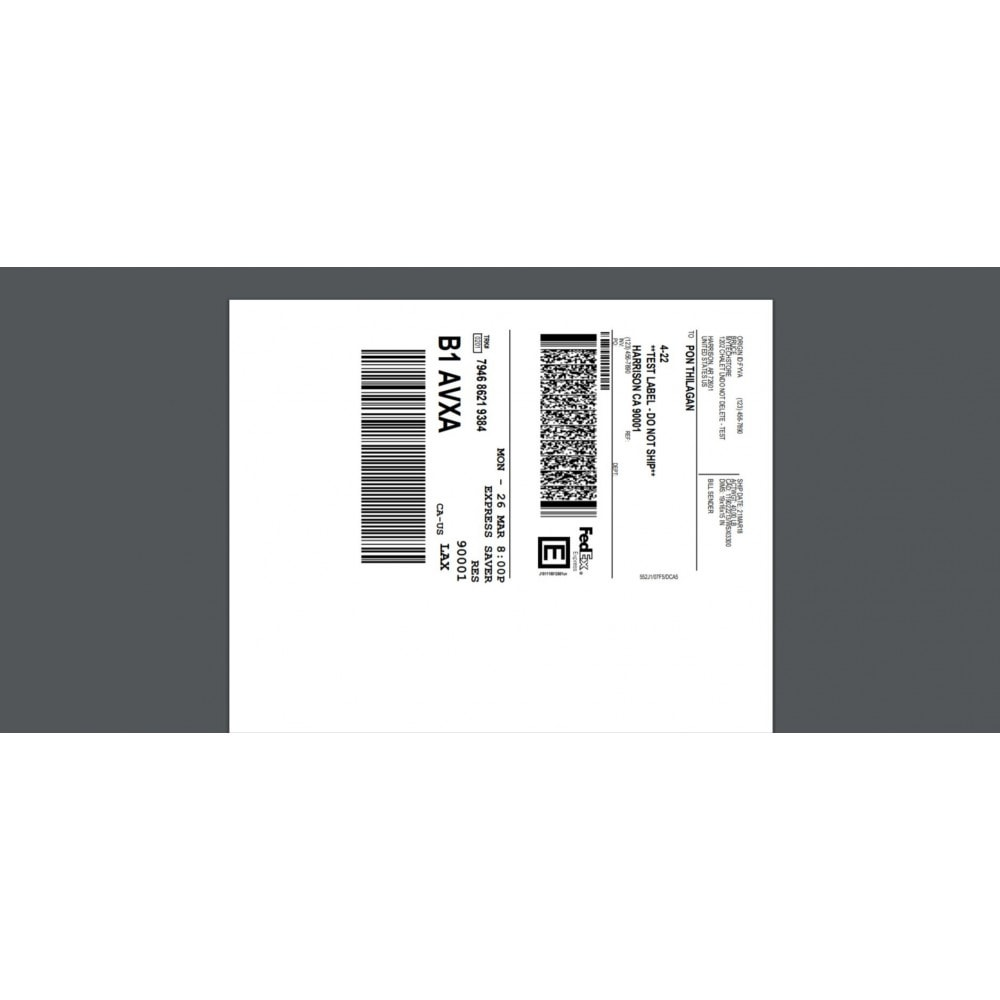 module - Frais de port - FedEx Shipping Module with Print Label - 1