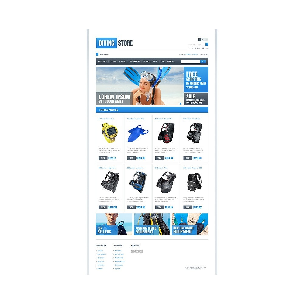 theme - Sport, Loisirs & Voyage - Diving Store - 1