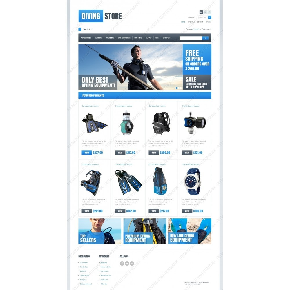 theme - Sport, Loisirs & Voyage - Diving Store - 2