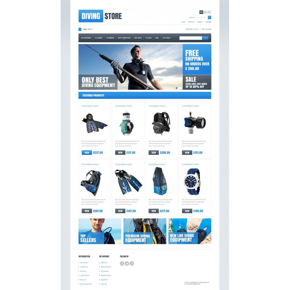 theme - Sport, Loisirs & Voyage - Diving Store - 3