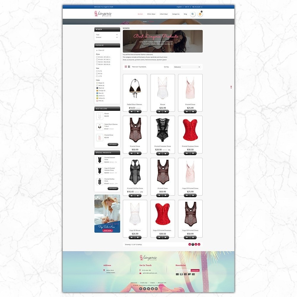 theme - Lingerie & Volwassenen - LingerieCloth - Lingerie Store - 3